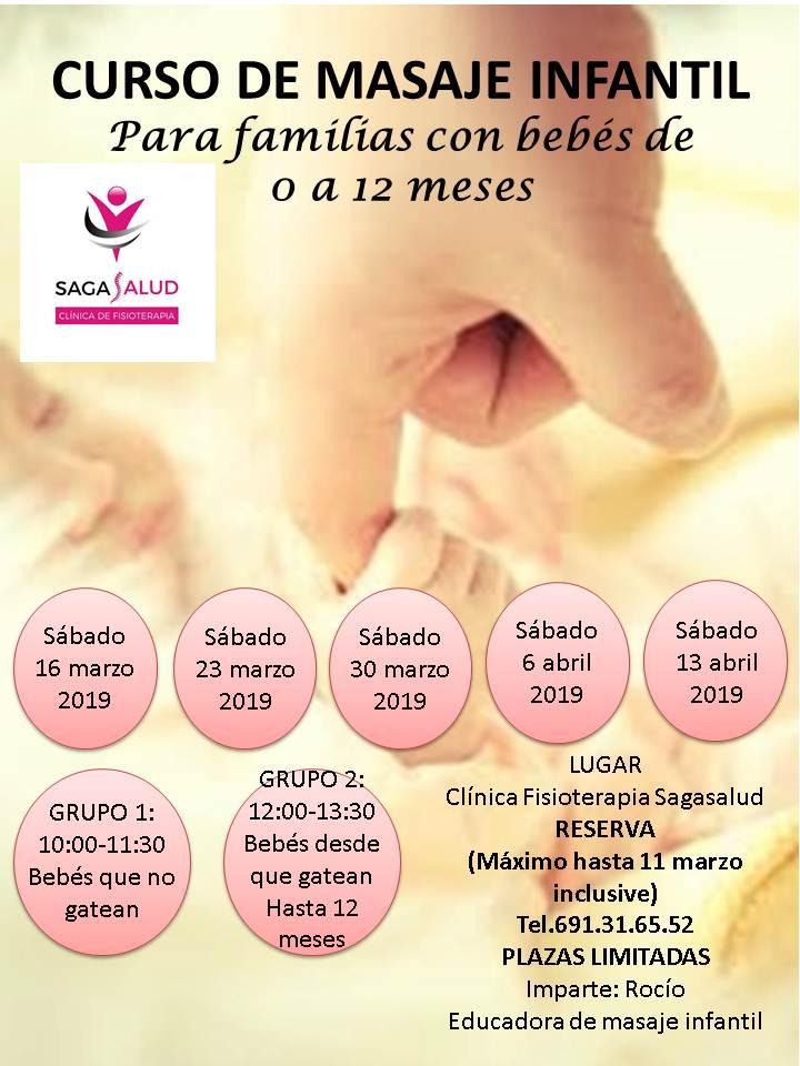 Próximo curso de masaje infantil para familias con bebés de 0 a 12 meses