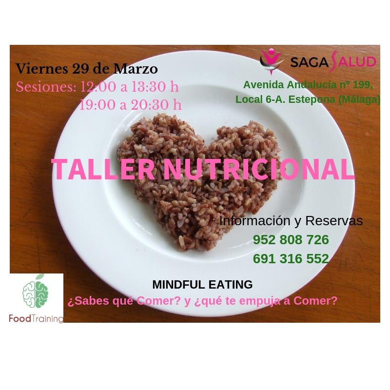Taller de Alimentación Saludable y Consciente, viernes 29 de marzo