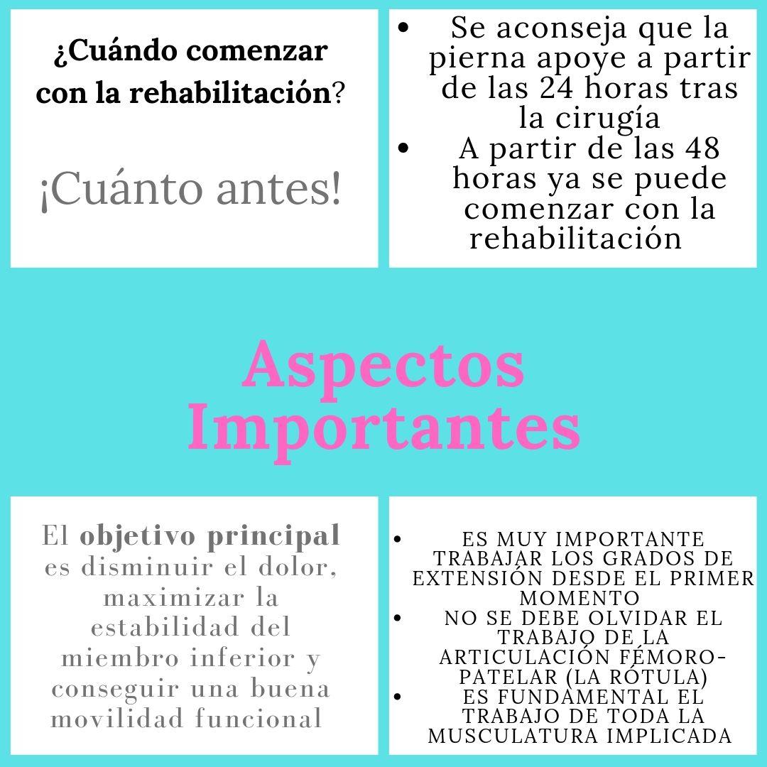 rehabilitación prótesis rodilla
