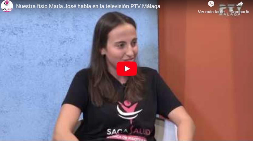 Nuestra fisio María José habla en la televisión PTV Málaga