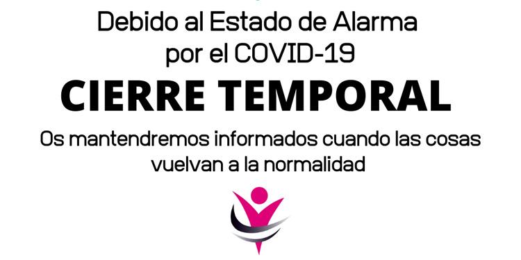 Cierre Temporal por alarma Covid-19