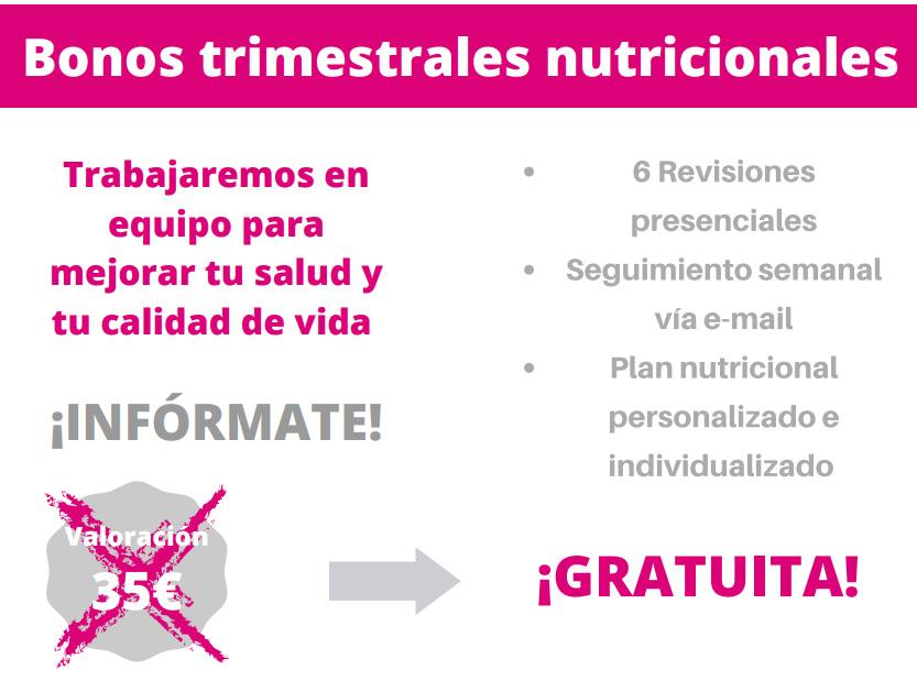 Bonos trimestrales nutricionales
